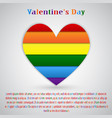 lgbt pride flag heart rainbow pride symbol vector image