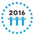 2016 Guys Dance Icon vector image