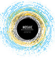 abstract circle mosaic background effect vector image vector image
