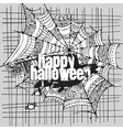 Abstract Halloween grunge design card vector image vector image