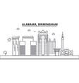 alabama birmingham architecture line skyline vector image