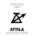 astrology asteroid attila scourge of god vector image vector image