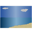 beach and sea background vector image vector image