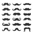 black mustaches collection vector image