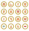 body parts icons circle vector image vector image