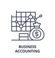 business accounting line icon concept business vector image vector image