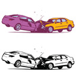 Car Collision vector image vector image