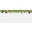 christmas border with toys transparent vector image