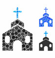 church building composition icon spheric items vector image vector image