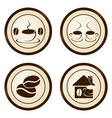 coffee sticker vector image vector image