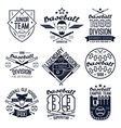 College baseball team emblems vector image vector image