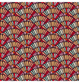 Colorful hand fan mosaic tile seamless pattern vector image vector image