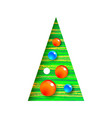 decorated christmas tree with balls modern vector image vector image