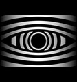 eye - abstract black and white background vector image