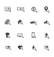 factors of living searching icons set on isolated vector image vector image