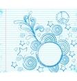 fancy doodle vector image vector image