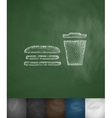 fast food icon Hand drawn vector image vector image