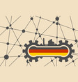 flag of the germany build in gear vector image
