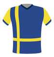 flag t-shirt of sweden vector image