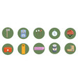 flat camping icons set vector image