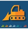 Flat design bulldozer vector image vector image