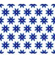 flower blue pattern vector image
