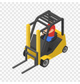 forklift icon isometric style vector image
