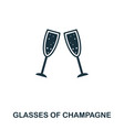 glasses of champagne icon line style icon design vector image