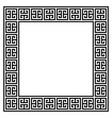 greek retro frame or border design vector image vector image