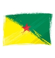 Grunge French Guiana flag vector image vector image