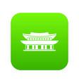 gyeongbokgung palace seoul icon digital green vector image vector image