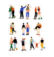 happy gay and lesbian couples set homosexual vector image vector image