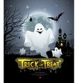 Happy Halloween ghost vector image vector image