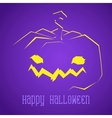 Happy Halloween Smiley Pumpkin vector image vector image