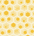 honeycomb pattern design yellow background vector image vector image