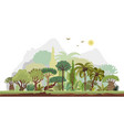horizontal tropical rainforest vector image