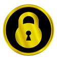 Lock sign button vector image vector image