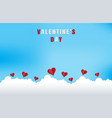 love and valentine dayorigami made flying on the vector image vector image