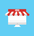 marketplace on personal computers flat design vector image