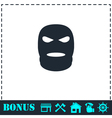 Mask icon flat vector image vector image