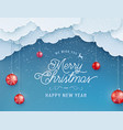 merry christmas happy new year background vector image