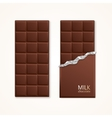 Milk Chocolate Package Bar Blank vector image vector image