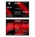 modern tri-fold brochure design template wi vector image vector image