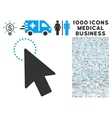Mouse Pointer Icon with 1000 Medical Business vector image vector image