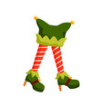 new year elf feet flat santa vector image