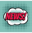 News comic book bubble text retro style vector image