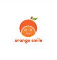 orange head smile logo vector image vector image