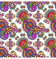 ornate seamless flower paisley design background vector image