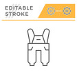 overall editable stroke line icon vector image vector image