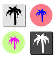 palm flat icon vector image vector image